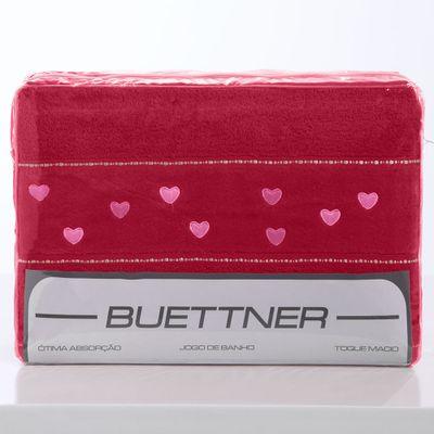 Jogo de Toalhas - 4 Peças - Buettner - Montana Premium - Bordado Corações