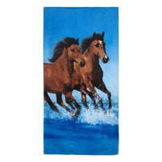 Toalha-de-Praia-Buettner-Linha-Beach-Collection-Exportacao-Estampa-Horses-Friends