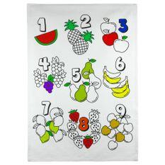 Kit-Toalha-Infantil-para-Colorir-Buettner-6-a-8-anos-Estampa-Frutas-e-Quantidades