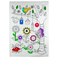 Kit-Toalha-Infantil-para-Colorir-Buettner-9-a-12-anos-Estampa-Primavera-Florida