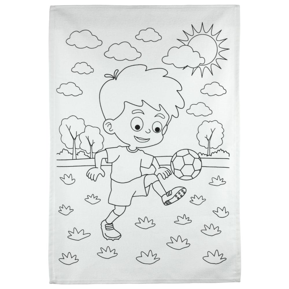 kit toalha infantil para colorir buettner 3 a 6 anos estampa