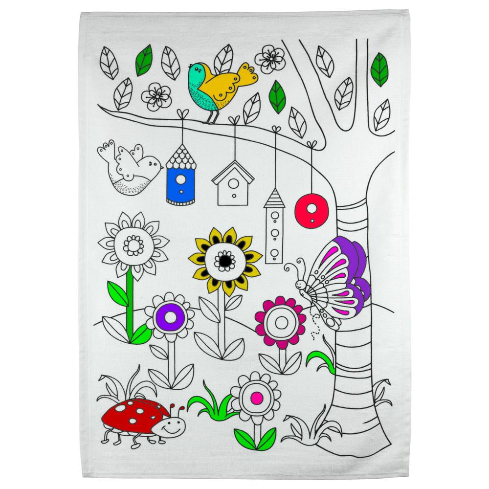 Kit Toalha Infantil Para Colorir Buettner 9 A 12 Anos