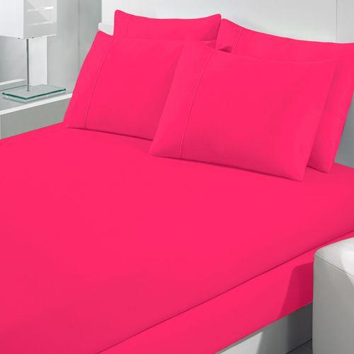 Jogo-de-Lencol-Queen-Size-Malha-100--Algodao-Buettner-Rolinho-Hot-Pink
