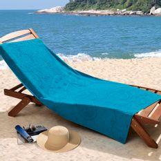 Toalha-de-Praia-Veludo-com-Desenho-em-Alto-e-Baixo-Relevo-Lufamar-Linha-New-Summer-Sunny-Day-Azul-Turquesa