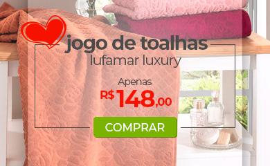 Jogo de Toalhas 5 Peças, Lufamar Luxury - Dia das Mães Loja Buettner | Aproveite!