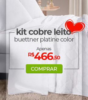Kit Cobreleito Queen Size 300 fios, Buettner Platine Color - Dia das Mães Loja Buettner | Aproveite!
