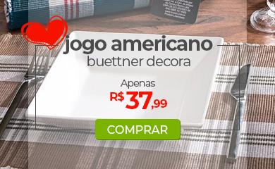 Jogo Americano 4 peças Xadrez, Buettner Decora - Dia das Mães Loja Buettner | Aproveite!