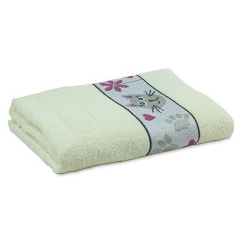 toalha-de-banho-infantil-lufamar-cat-puppies-creme-principal