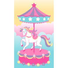 toalha-infantil-aveludada-e-estampada-buettner-estampa-unicornio-carrossel-vitrine