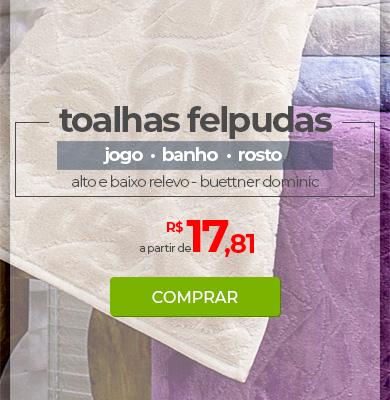 Toalhas Felpudas Alto e Baixo Relevo Buettner Dominic | Jogo, Banho e Rosto | A partir de R$17,81 | Loja Buettner | Compre Agora!