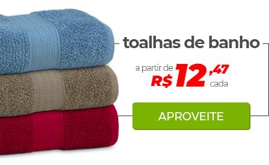 Toalhas de Banho a partir de R$ 12,47 cada | Loja Buettner | Aproveite!