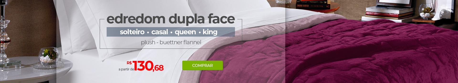 Edredom Dupla Face Buettner Flannel - Solteiro, Casal, Queen e King | A partir de R$130,68 | Loja Buettner | Compre Agora!