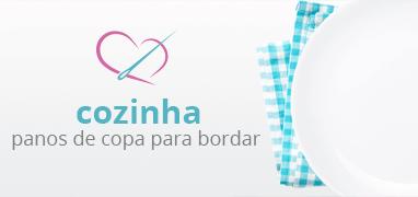 Departamento Cozinha, Panos de Copa para Bordar | Clube de Bordar | Confira!