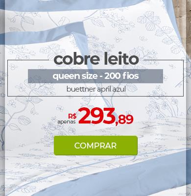 Kit Cobre leito Queen Size 200 fios Buettner April Azul | Apenas R$ 293,89 | Loja Buettner | Comprar