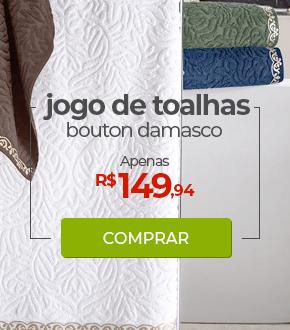 Jogo de Toalhas 5 Peças Bouton Damasco | Apenas R$149,94 | Loja Buettner | Comprar!