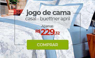 Jogo de Cama Casal Buettner April Azul | Apenas R$229,32 | Loja Buettner | Comprar!
