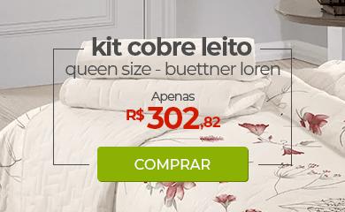 Kit Cobre leito Queen Size Buettner Loren Vermelha | Apenas R$302,82 | Loja Buettner | Comprar!