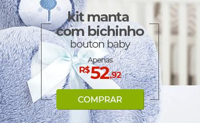 Kit Manta com Bichinho em Microfibra Bouton Baby | Apenas R$52,92 | Loja Buettner | Comprar!