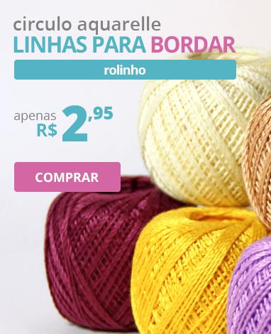Linhas para Bordar Circulo Aquarelle - Rolinho | Apenas R$ 2,95 | Clube de Bordar | Compre Agora!