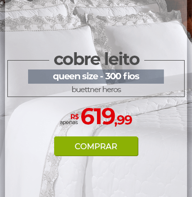 Kit Cobre Leito 300 fios com Renda Queen Size Buettner Heros | Apenas R$ 619,99 | Loja Buettner | Comprar!