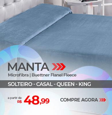 Manta Microfibra Buettner Flanel Fleece - Solteiro, Casal, Queen e King   A partir de R$ 48,99   Loja Buettner   Compre Agora!