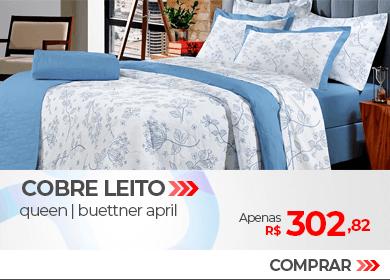 Kit Cobre leito Queen Size 200 fios Buettner April Azul | Apenas R$ 302,82 | Loja Buettner | Compre Agora!
