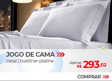 Jogo de Cama Casal 300 fios Buettner Platine Color | Apenas R$ 293,02 | Loja Buettner | Compre Agora!