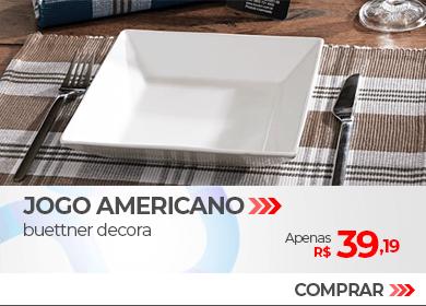 Jogo Americano 4 peças Xadrez Buettner Decora | Apenas R$ 39,19 | Loja Buettner | Compre Agora!