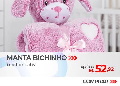 Kit Manta com Bichinho em Microfibra Bouton Baby | Apenas R$ 52,92 | Loja Buettner | Compre Agora!