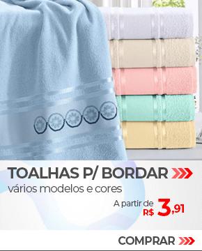 Toalhas para Bordar, várias cores e modelos | A partir de R$3,91 | Loja Buettner | Compre Agora!