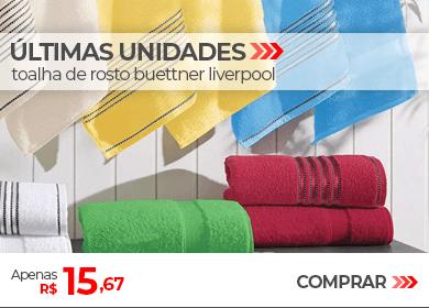 Últimas Unidades - Toalha de Rosto Buettner Liverpool | Apenas R$ 15,67 | Loja Buettner | Comprar!