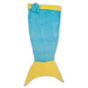 manta-infantil-de-microfibra-saco-de-dormir-sereia-azul-bouton-detalhe