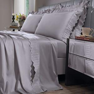 jogo-de-cama-casal-180-fios-com-renda-e-dobra-feita-bouton-leliz-Cor-Cinza