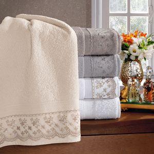 jogo-de-toalhas-5-pecas-em-algodao-500-gramas-por-metro-quadradoe-aplicacao-de-renda-bouton-jaqui-Cor-Cinza-vitrine