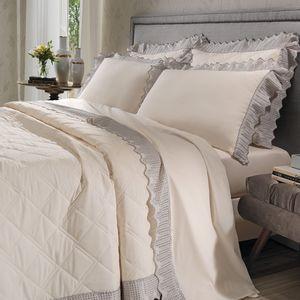 cobre-leito-queen-size-180-fios-e-2-porta-travesseiros-com-renda-bouton-leliz-Cor-Perola
