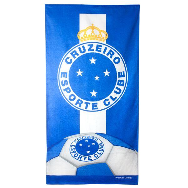 b8ea6d8989af8 Toalha de Banho de Times de Futebol Aveludada Estampada 70x140cm 360g/m²  Buettner Licenciada Brasão Cruzeiro - lojabuettner