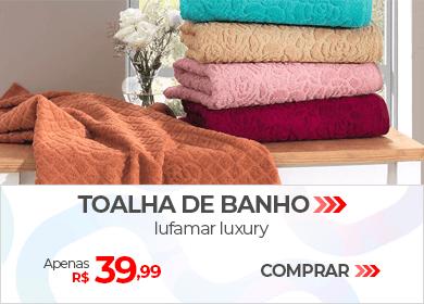 Toalha de Banho Lufamar Luxury | Apenas R$ 39,99 | Loja Buettner | Comprar!