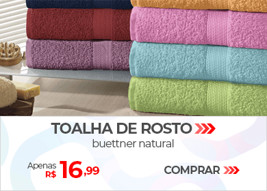 Toalha de Rosto Buettner Natural | Apenas R$ 16,99 | Loja Buettner | Comprar!