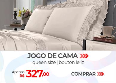 Jogo de Cama Queen Size Bouton Leliz | Apenas R$ 327,00 | Loja Buettner | Comprar!