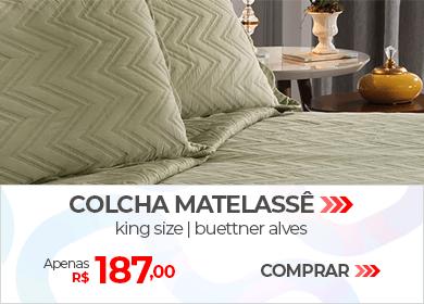 Colcha Matelassê King Size Buettner Alves | Apenas R$ 187,00 | Loja Buettner | Comprar!