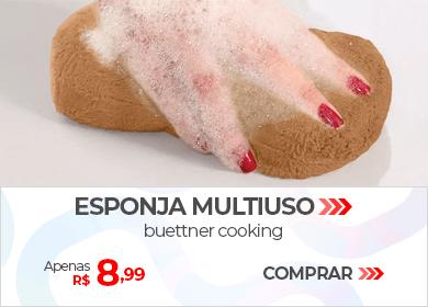 Esponja Multiuso Buettner Cooking | Apenas R$ 8,99 | Loja Buettner | Comprar!