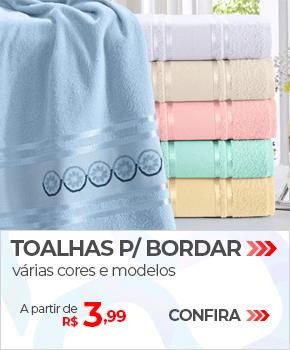 Toalhas para Bordar, várias cores e modelos | A partir de R$ 3,99 | Loja Buettner | Confira!