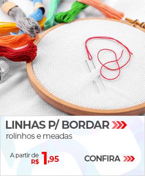 Linhas para Bordar, rolinhos e meadas | A partir de R$ 1,95 | Loja Buettner | Confira!