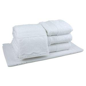 jogo-de-toalhas-5-pecas-em-algodao-500-gramas-por-metro-quadradoe-aplicacao-de-renda-bouton-dely-branco-principal