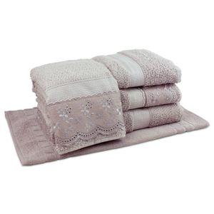 jogo-de-toalhas-5-pecas-em-algodao-500-gramas-por-metro-quadradoe-aplicacao-de-renda-bouton-jaqui-bege-principal