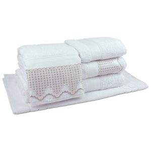 jogo-de-toalhas-5-pecas-em-algodao-500-gramas-por-metro-quadradoe-aplicacao-de-renda-bouton-leliz-branco-principal