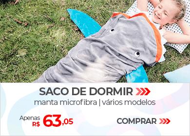Saco de Dormir Manta de Microfibra, Vários Modelos | Apenas R$ 63,05 | Loja Buettner | Comprar!