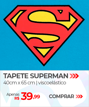 Tapete Superman Viscoelástico | Apenas R$ 39,99 | Loja Buettner | Comprar!