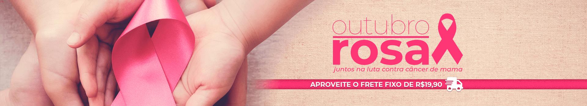 Outubro Rosa - Juntos na luta contra Câncer de Mama | Loja Buettner | Aproveite o frete fixo de R$19,90!