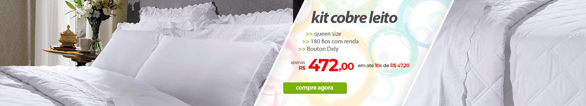 Kit Cobre Leito Queen Size 180 Fios Bouton Dely   Apenas R$472,00   Loja Buettner   Compre Agora!
